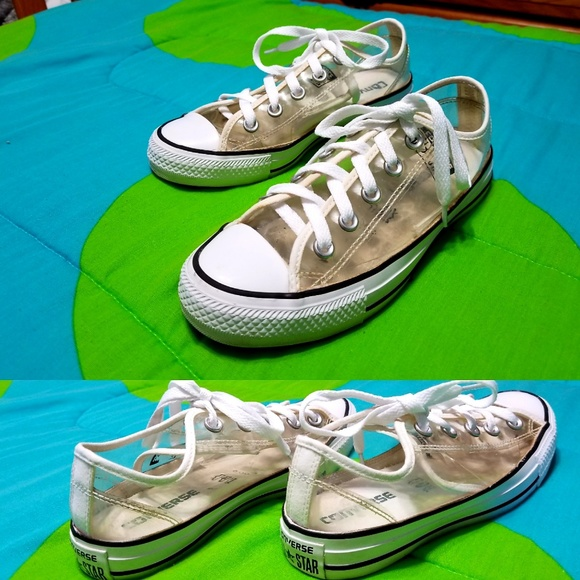 Converse Shoes - Clear converse low top sneakers Womens 6 Mens 4 58bcf1d0b3